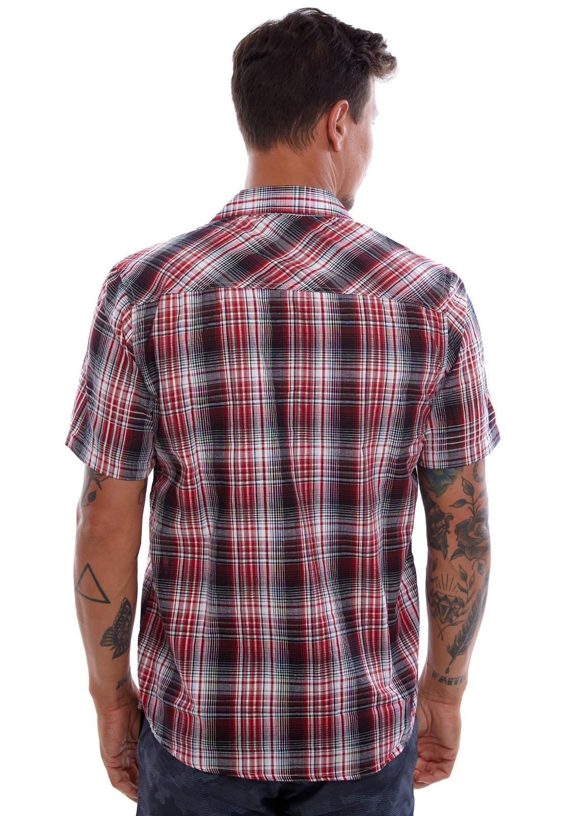 Camisa Vida Marinha Manga Curta Estampada/Xadrez