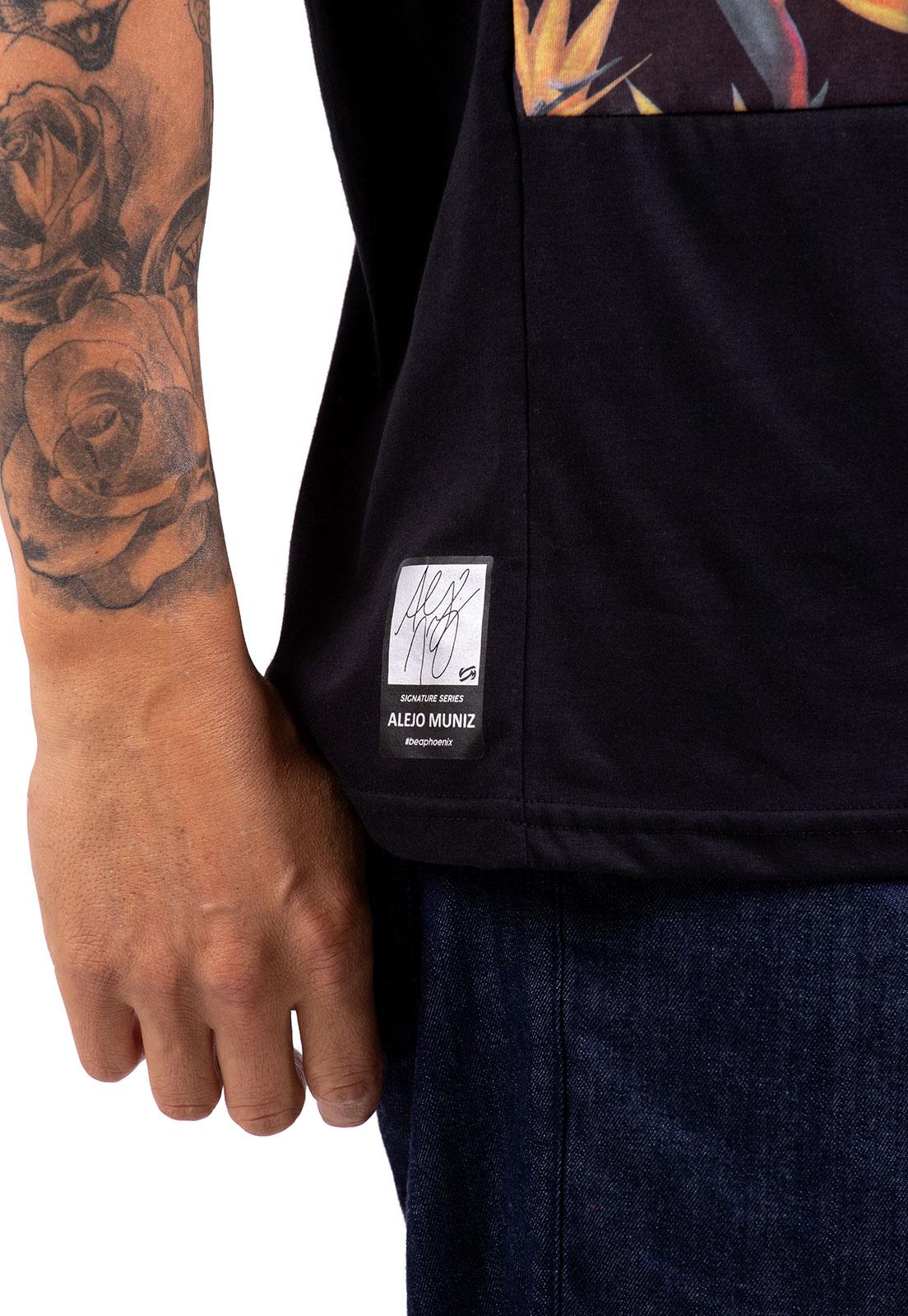 Camiseta Vida Marinha Alejo Muniz Manga Curta Preto