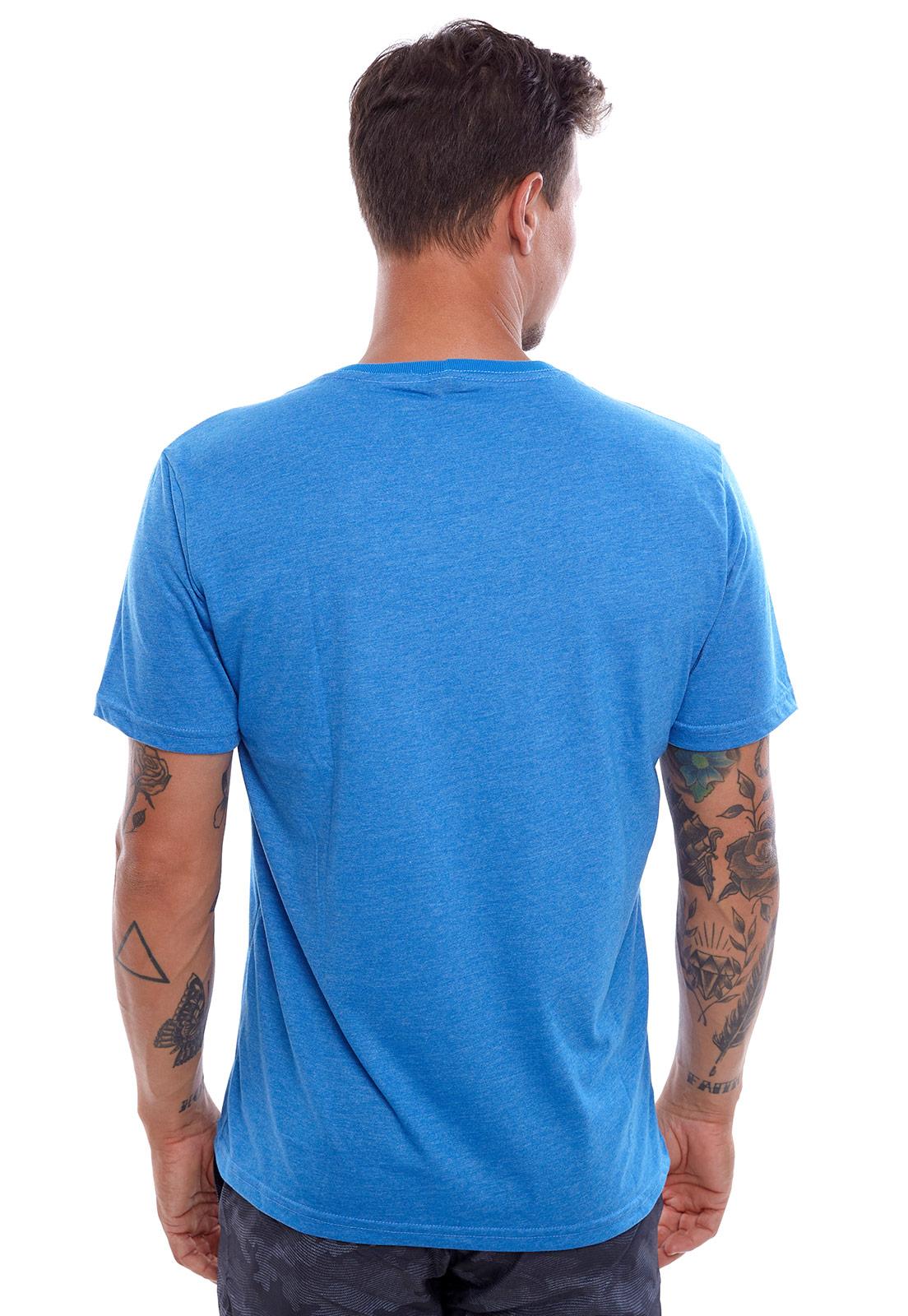 Camiseta Vida Marinha Manga Curta Azul Royal