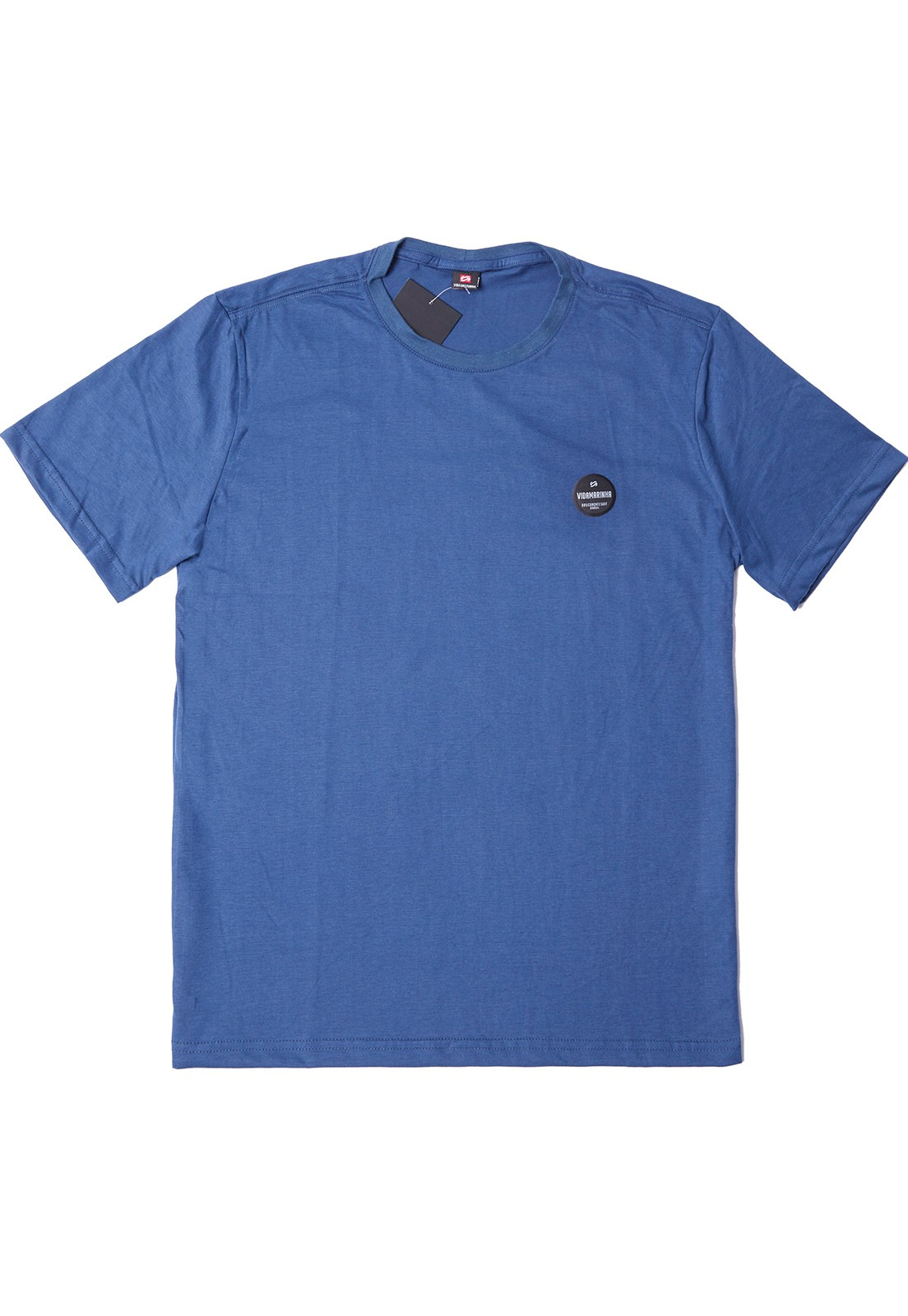 Camiseta Vida Marinha Manga Curta Básica Azul Escuro