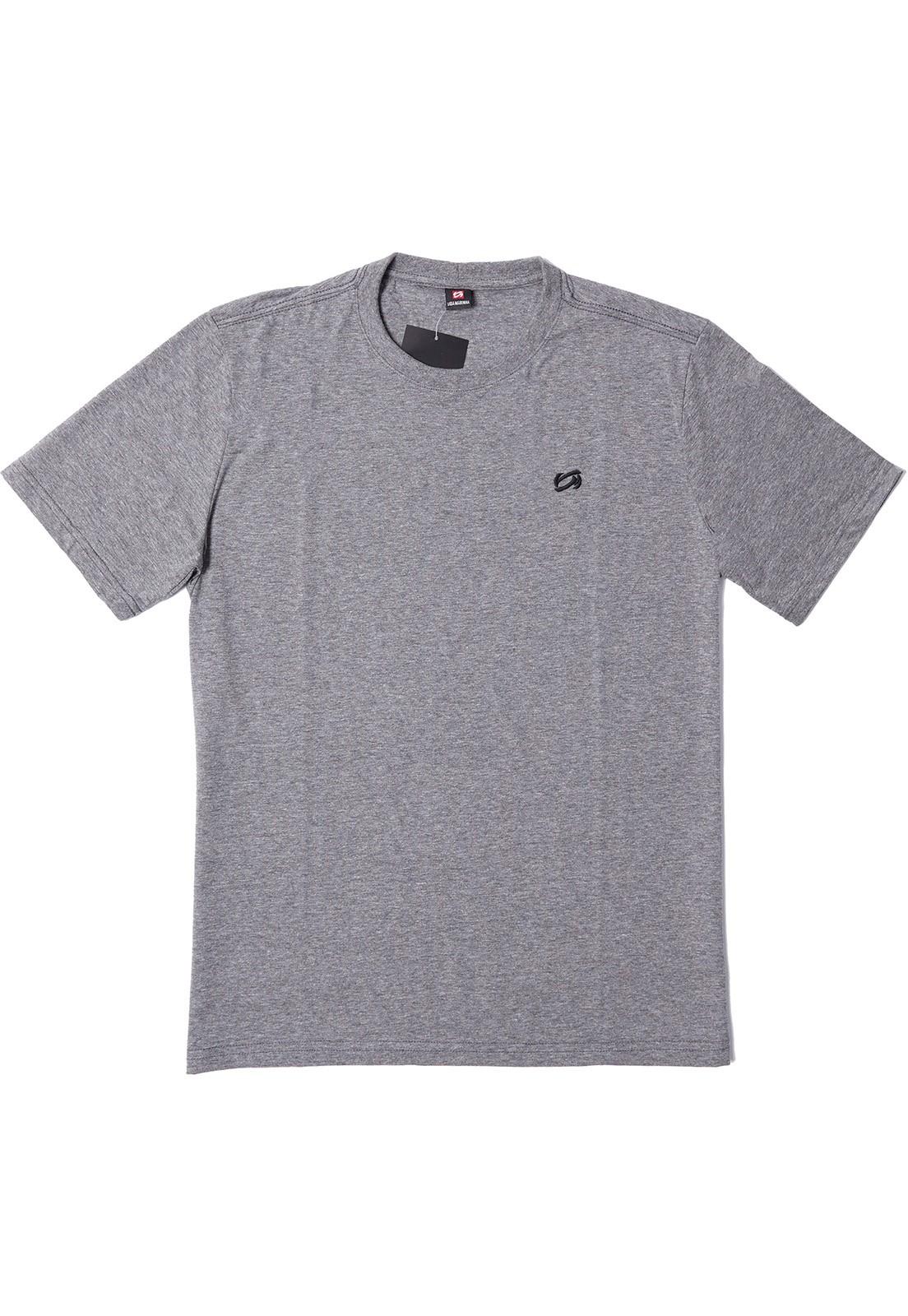 Camiseta Vida Marinha Manga Curta Básica Cinza