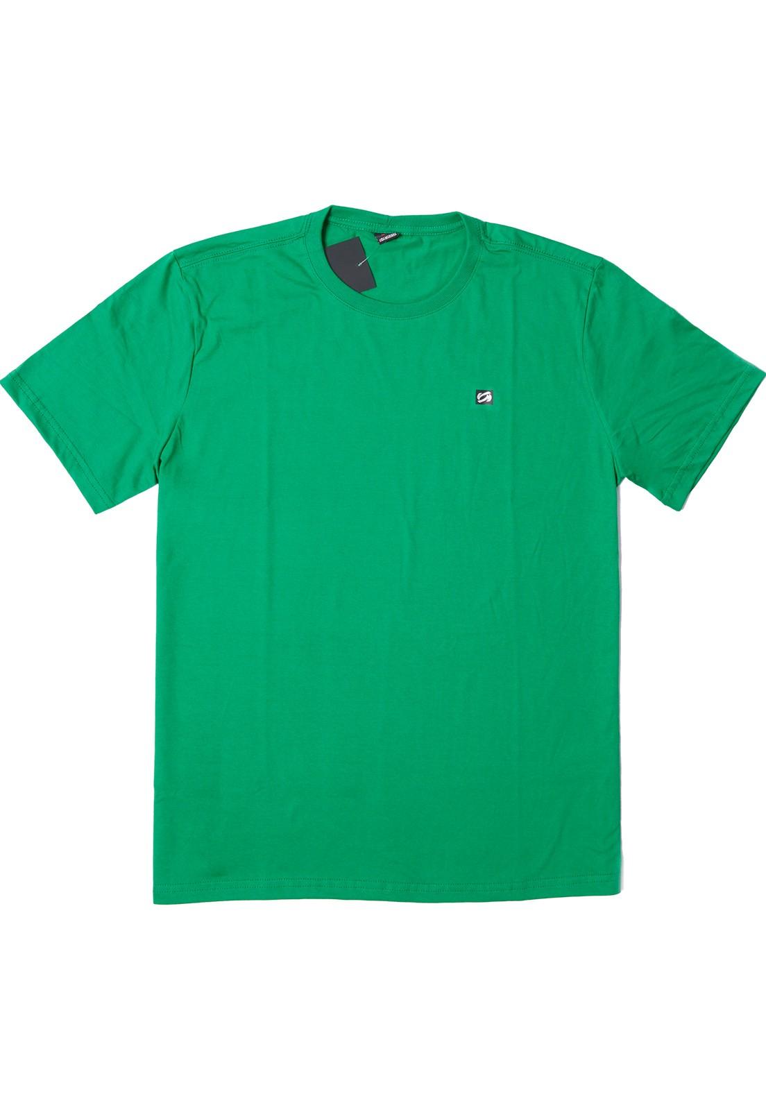 Camiseta Vida Marinha Manga Curta Básica Verde