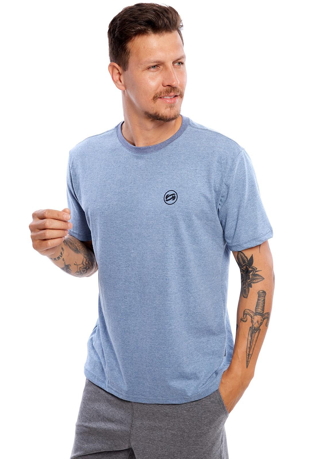 Camiseta Vida Marinha Manga Curta Bege