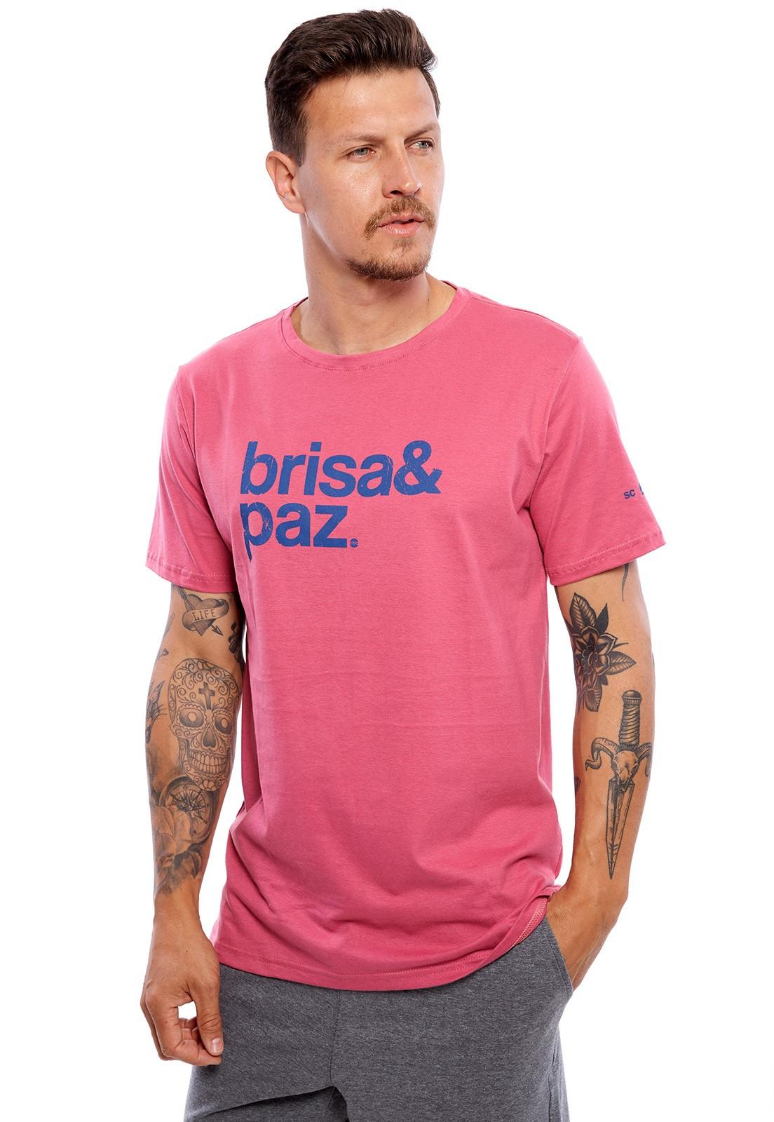 Camiseta Vida Marinha Manga Curta Especial Goiaba