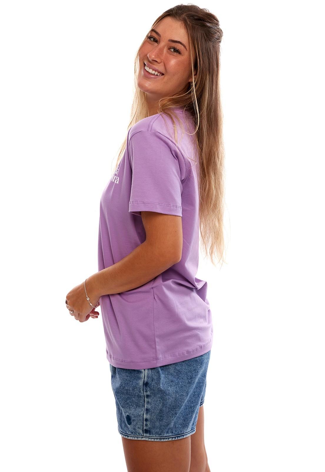 Camiseta Vida Marinha Manga Curta Lilás