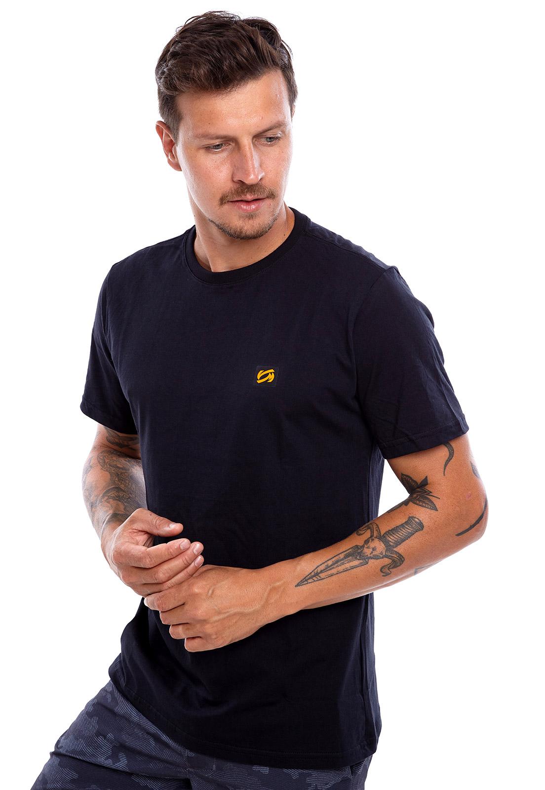 Camiseta Vida Marinha Manga Curta Preto