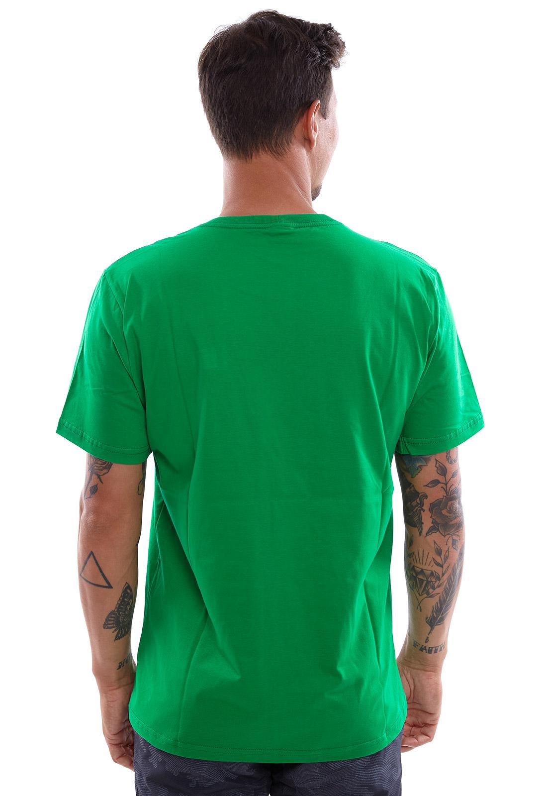 Camiseta Vida Marinha Manga Curta Verde