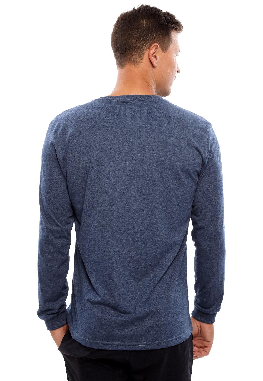 Camiseta Vida Marinha Manga Longa Azul