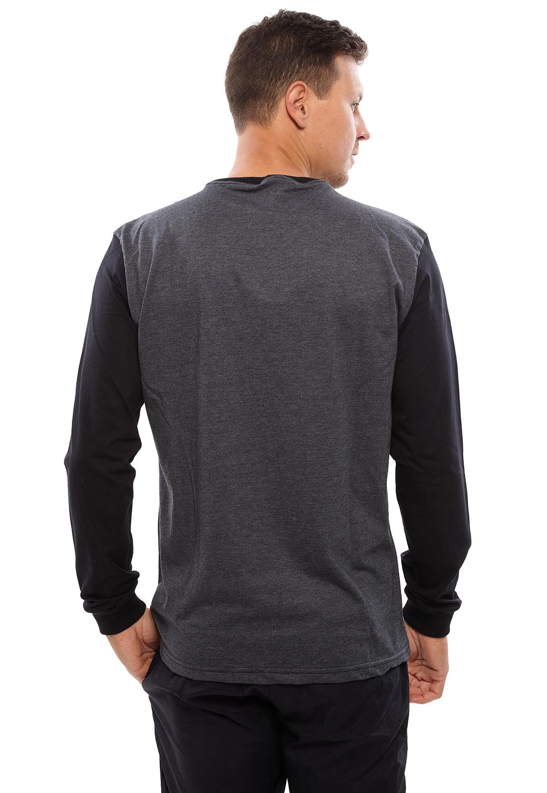 Camiseta Vida Marinha Manga Longa Preta