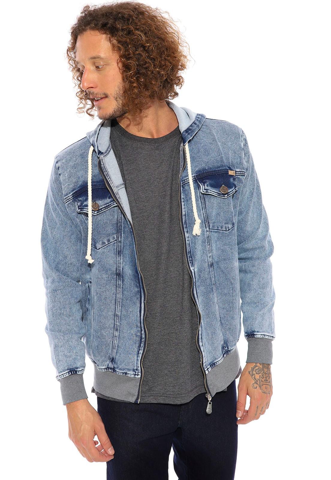 Jaqueta Jeans/Moletom Vida Marinha Azul