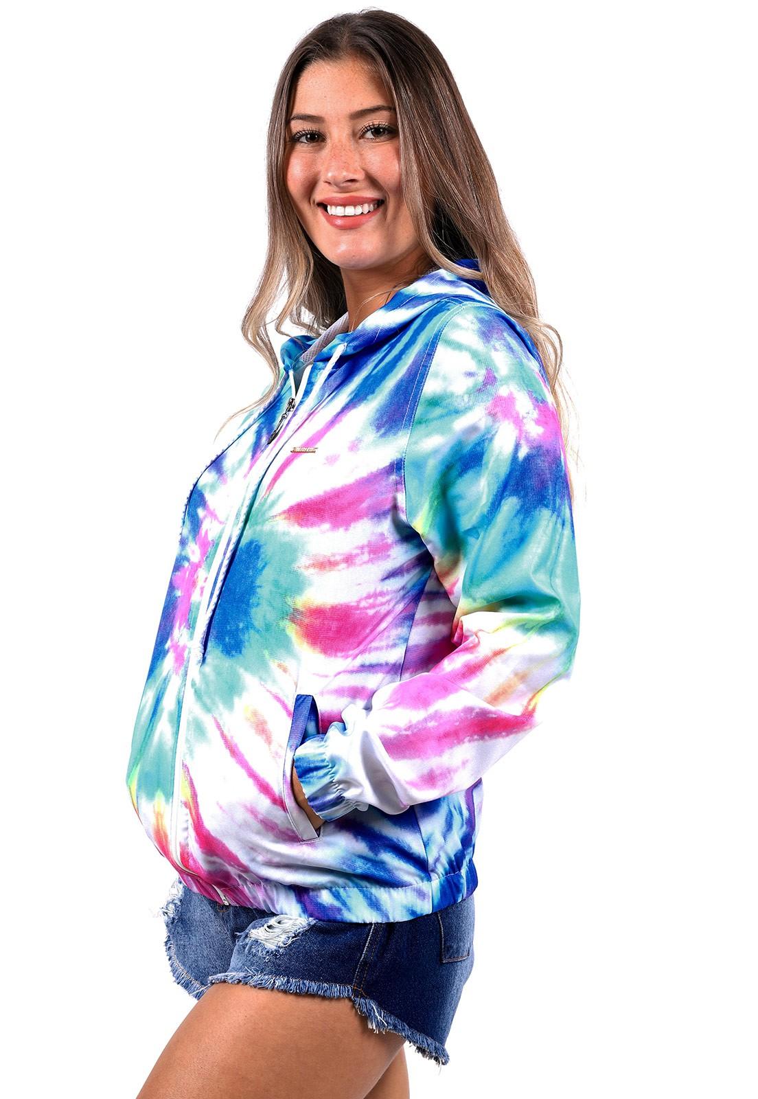 Jaqueta Vida Marinha Corta Vento Tie Dye