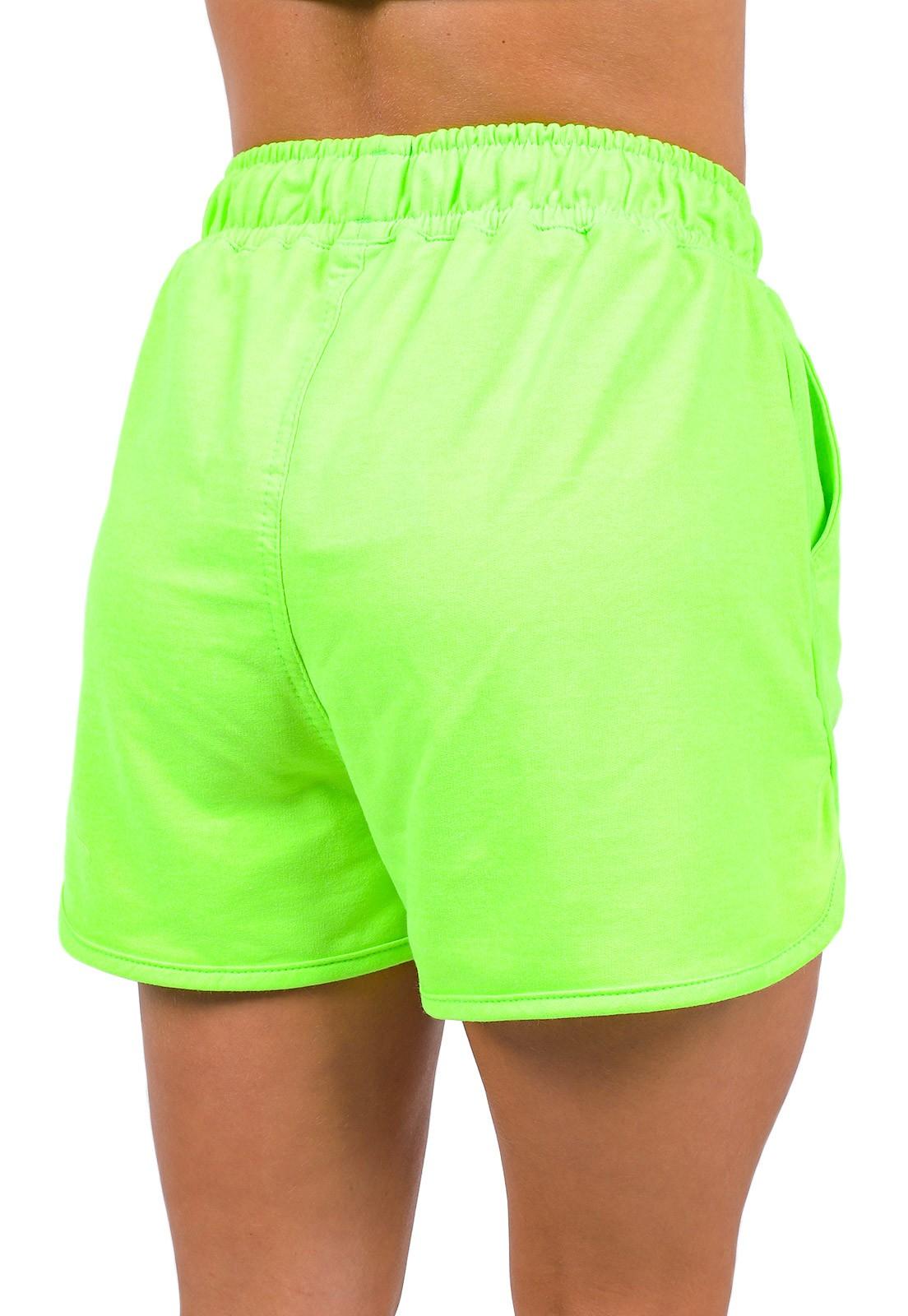Short Vida Marinha Verde Neon