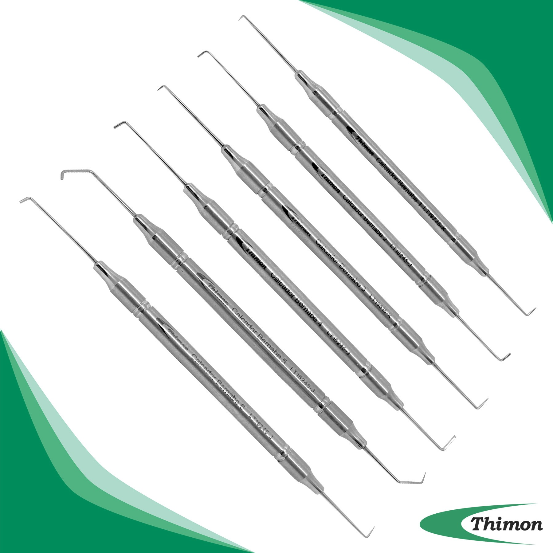 CALCADOR BERNABE C/ 6 PCS CABO 6MM