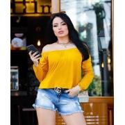 Blusa Ciganinha Viscolycra Amarelo