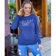 Blusa de Moletom feminino com inspirada na  Colcci