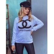 Blusa de Moletom feminino  inspirada na marca Coco Chanel