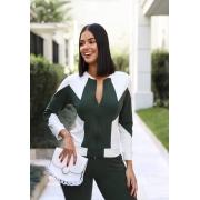 Conjunto de Calça e Blusa de Moletinho Verde Militar