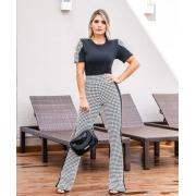 Conjunto Feminino de blusa e calça de  Jacquard