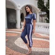 Conjunto Feminino De Calça e Blusa Chanel Moletinho