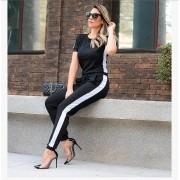 Conjunto Feminino de Calça  e Blusa de  Malha Canelada