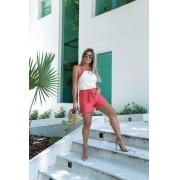 Conjunto Feminino de Shorts e Blusa de Moletinho