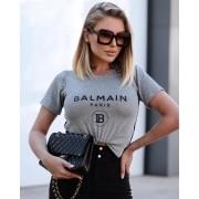 T-Shirt Balmain de Malha com Guippir