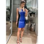 Vestido de Courino Azul Averara