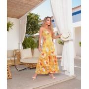 Vestido Longo Verão Fluity  Amarelo