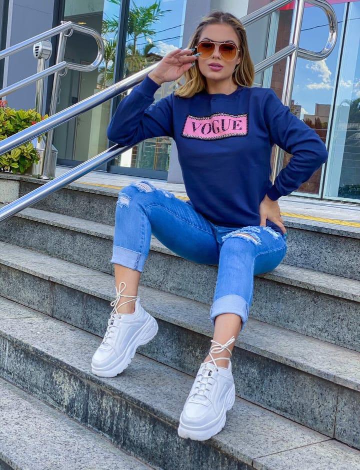 Blusa de Moletom feminino  inspirada na marca VOGUE