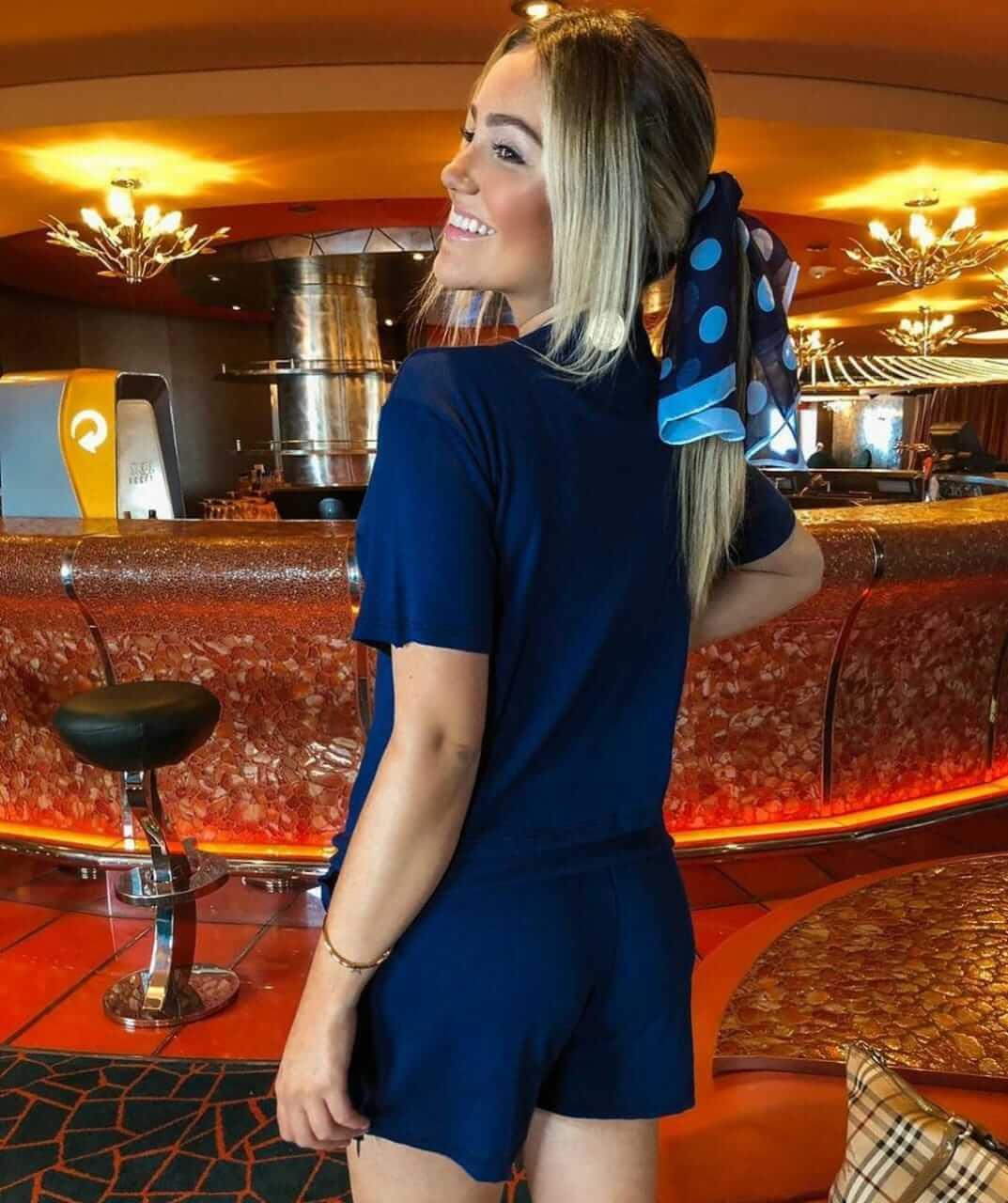 Conjunto de Shorts e Blusa Ribana Azul Marinho