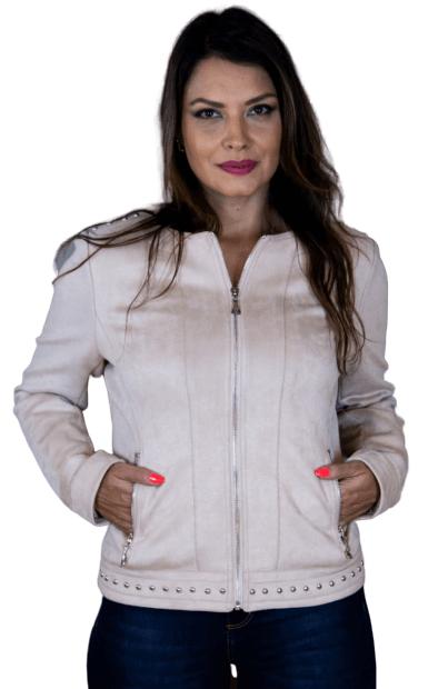 Jaqueta Feminina de Suede