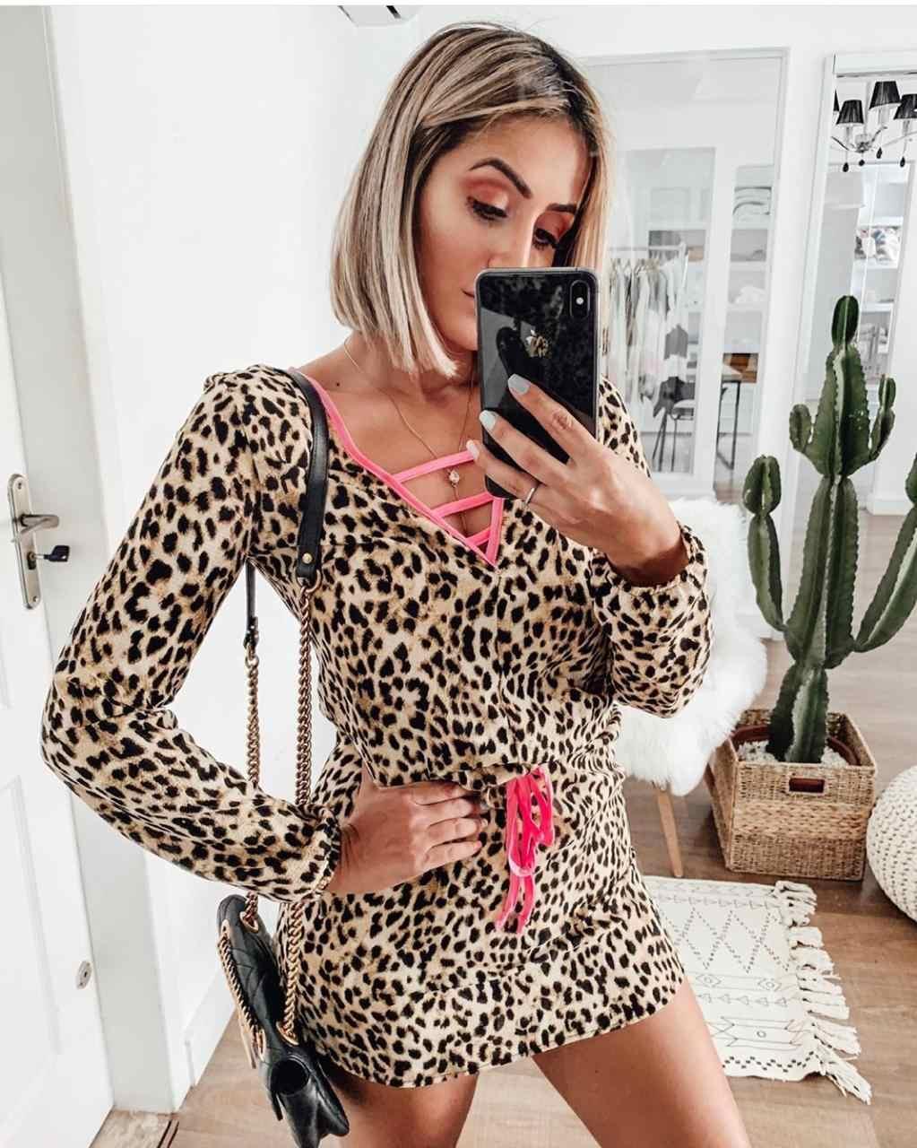 Vestido Animal Print Blogueira