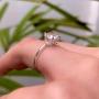 Anel Solitário Zircônia Prata 925 7mm