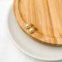 Brinco Pérola 7mm Banhado a Ouro