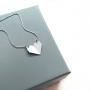 Colar Coração Dobrado Prata 925