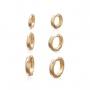 Kit Brincos Argolas Clique Banhado Ouro 18K