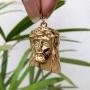 Pingente Face de Cristo Banhado a Ouro