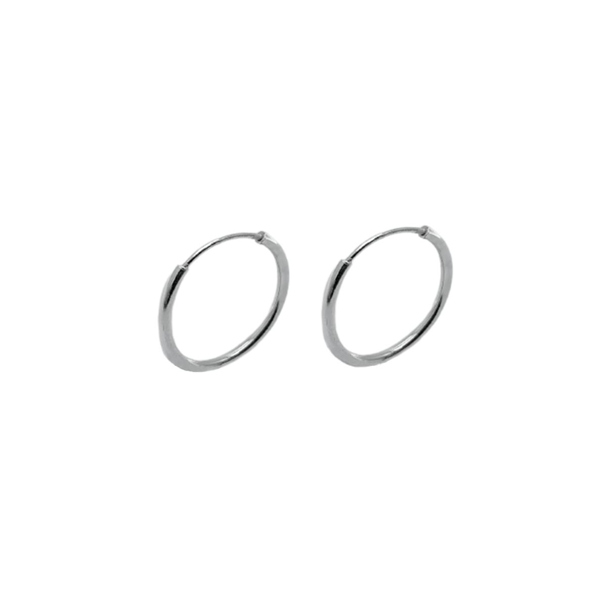 Brinco Mini Argola de Prata 10mm