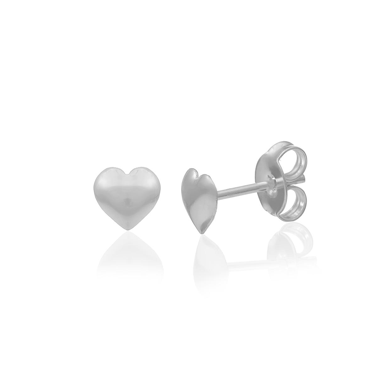Brinco Coração Mini Prata 925