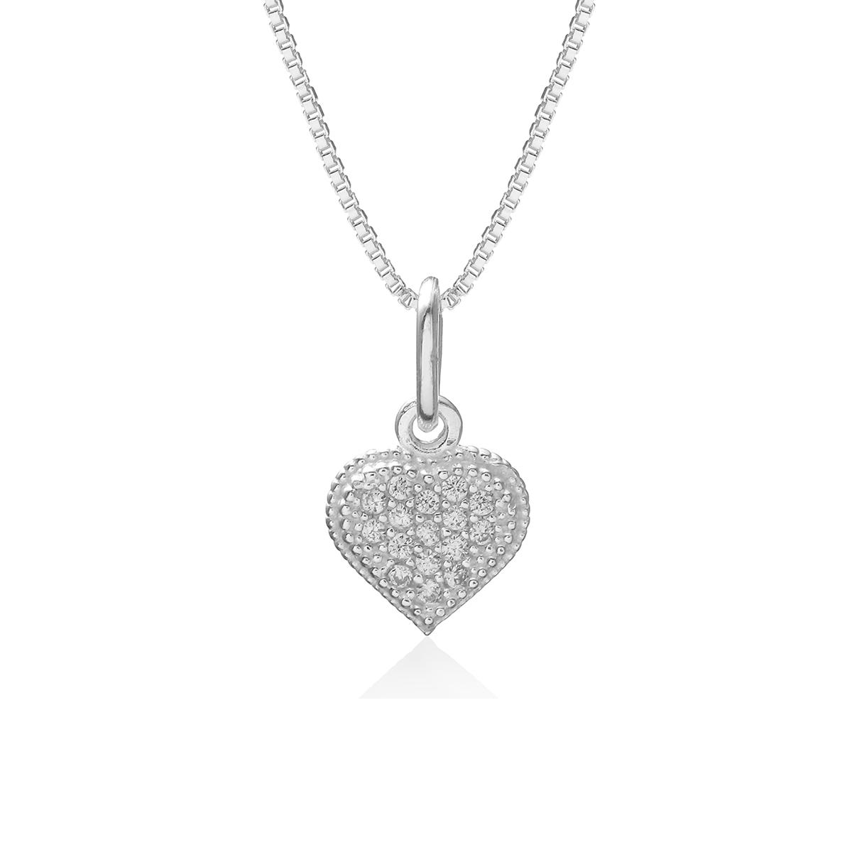 Colar Coração Love Prata 925
