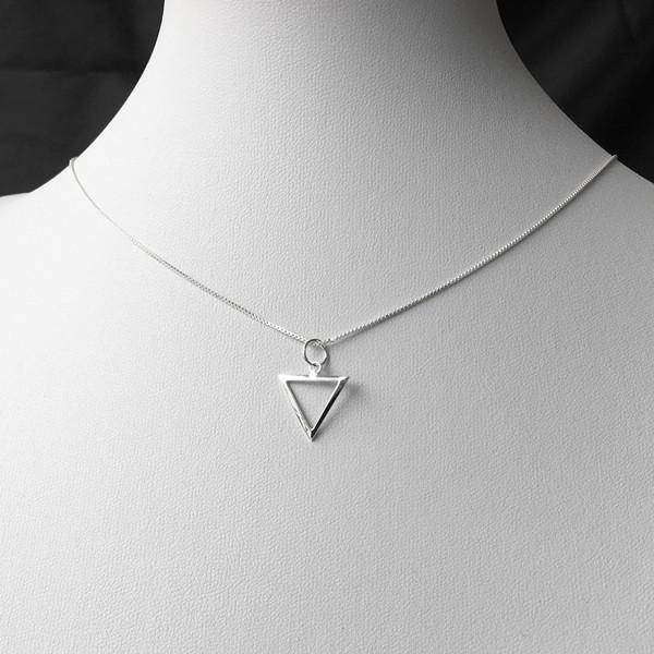 Colar Triângulo Médio Prata 925, Colar de Prata