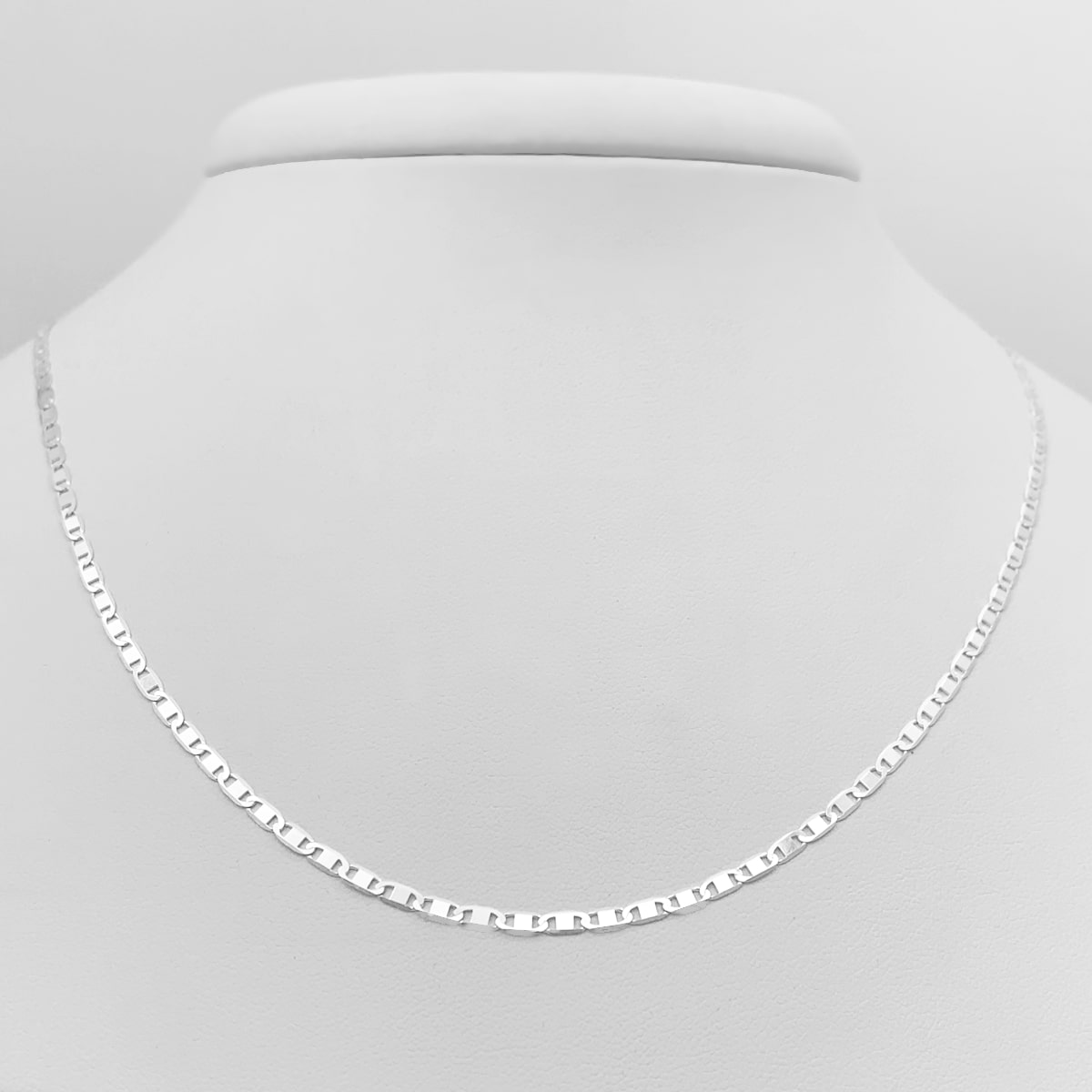 Corrente de Prata 925, Modelo Piastrina