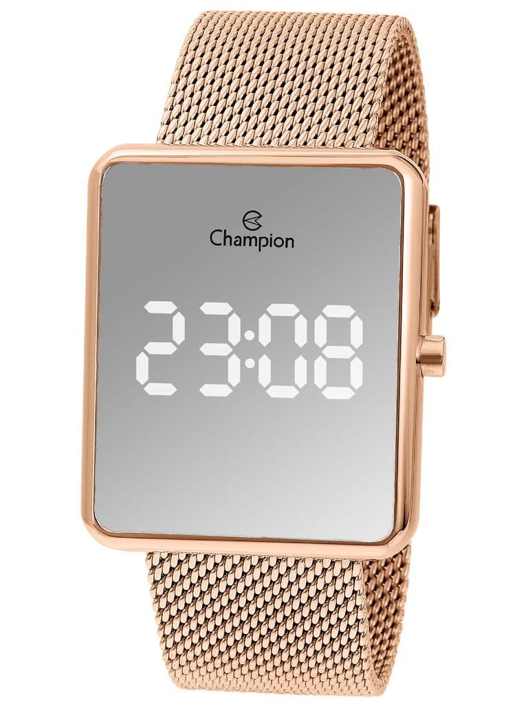 Relógio Digital Champion - Dourado Rose Espelhado