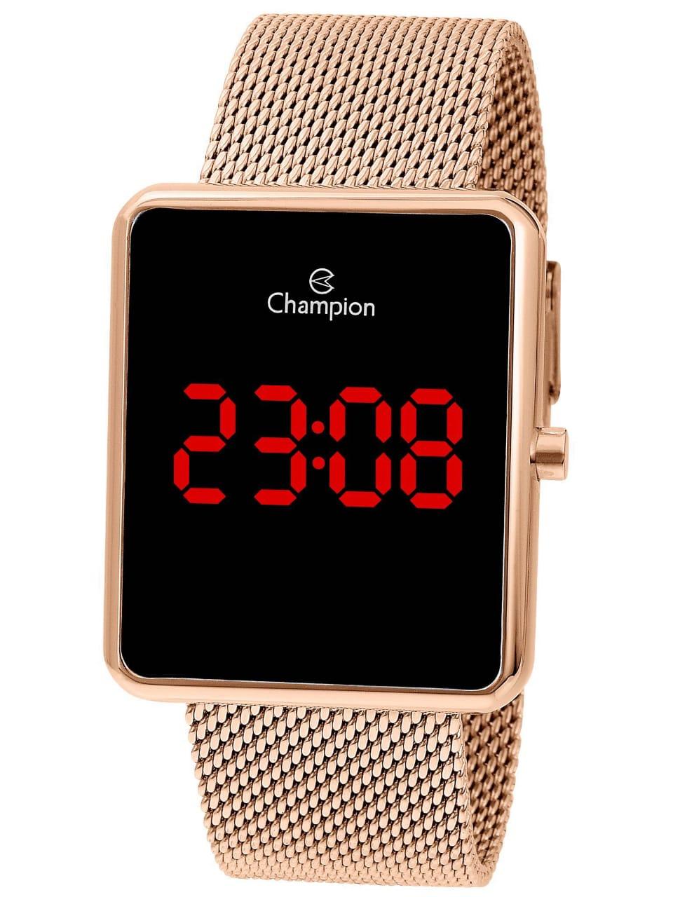 Relógio Digital Champion - Dourado Rose