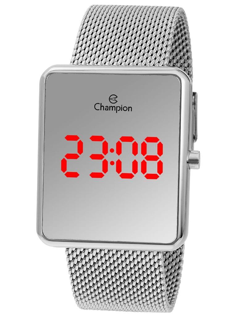 Relógio Champion Digital Prateado Espelhado