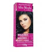 Alta Moda Kit Coloração 1.11 preto azulado 150g