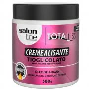 Creme Alisante Argan Oil Forte 500gr - Salon Line
