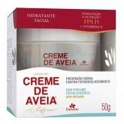 Hidratante Facial Davene Creme de Aveia hipoalergênico, FPS 15, 50g
