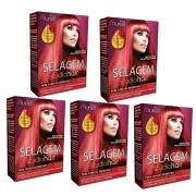 Kit com 5 uni Selagem Studio Hair Para Cabelos Vermelhos - Muriel