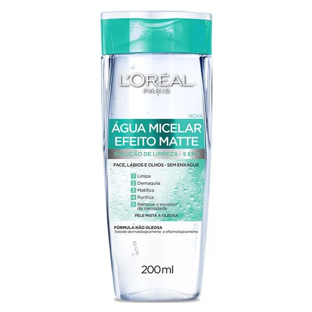 Agua Micelar Efeito Matte 200ml - Loreal
